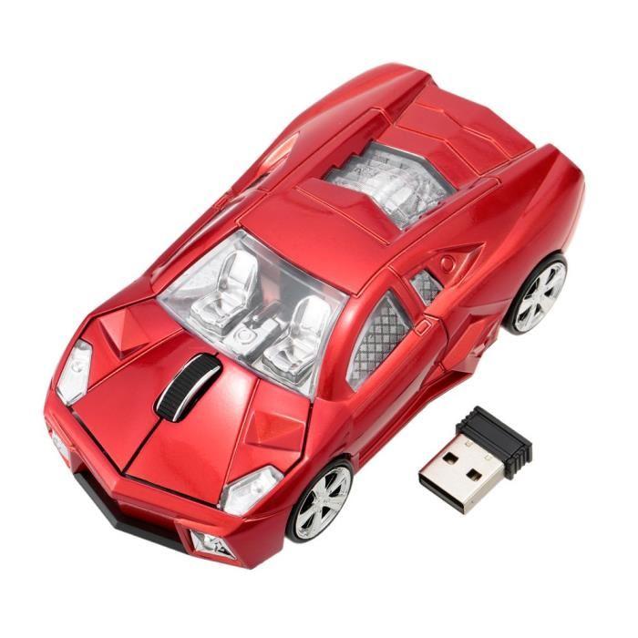 souris sans fil voiture de sport