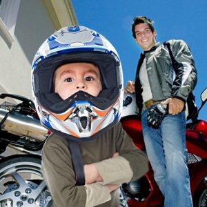 Casque de moto enfant